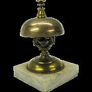 1863 Victorian silvered bronze Hotel bell