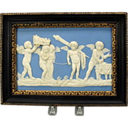 18th Century Wedgwood jasper plaque-Marriage of Cupid and Psyche