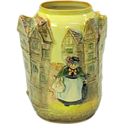 Royal Doulton 3D Dickens ware vase of houses- Sairey Gamp