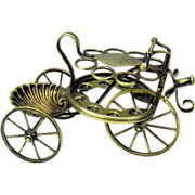 Rare Victorian silvered bicycle or tricycle table top Cigar holder