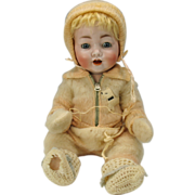 "17"" Koenig & Wernicke German 99 bisque head Character baby doll with mystery number"