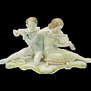 Big Hutschenreuther porcelain group Violinist player-Violin & Flute