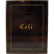 Fine Victorian French inlaid rosewood CAFE (Coffee) box