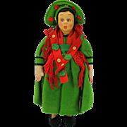 """Vintage Lenci Mascot felt doll original tag 9"""""""