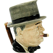 Vintage Royal Winton Grimwades Winston Churchill toby jug