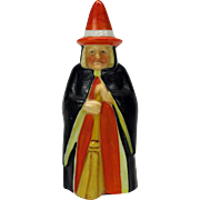 Antique porcelain WITCH candle snuffer extinguisher