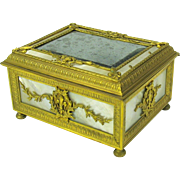 Palais Royale bronze &  Mother of pearl cigar or dresser box Grand Tour