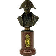 Fine Grand Tour bronze cabinet bust of Napolean signed H. Muller on marble base