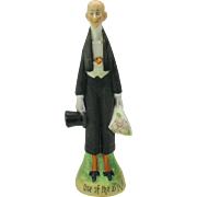 """Vintage Schafer Vater German bisque tall figure 'One of the boys"""" -bachelor"""