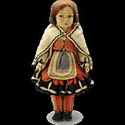 "Early 19"" Lenci type felt doll 1930's."