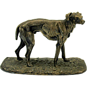 Unusual Wilcox silverplate model of a Greyhound
