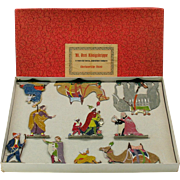 Large Hans Heinrichsen German lead flat set of Biblical Christmas Nativity figures in original box