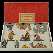 Large Hans Heinrichsen German lead flat set of Biblical Christmas Nativity figures in original box