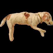 Antique German spun cotton Christmas ornament DOG
