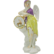 Fine antique porcelain Angel ZODIAC figure-Sagittarius