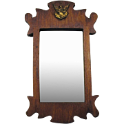 Vintage doll house miniature Federal mirror