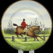 """Vintage Caulden Hunt or Hunting horse scene plate 10 1/2"""""""