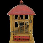 Antique Bird in birdhouse squeak toy