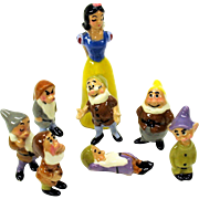 Vintage Hagen Renaker set of Snow White & the 7 Dwarfs