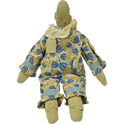 American Folk Art cloth rag doll with ears Clever Bill