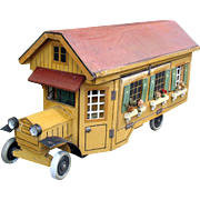 Rarest Gottschalk AUTOMOBILE red roof Doll dolls house Motor car!