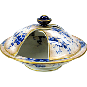 Royal Doulton Burslem flow blue semi mechanical tureen