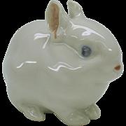 Vintage Royal Copenhagen porcelain white baby gerbil hamster rabbit door mouse creature