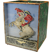 Dresden & watercolor paper Napoleon shadow box large paper scroll holder