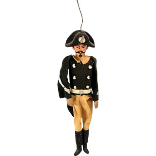 Vintage Military dangling toy theater figure or marionette