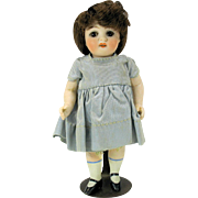 "Fine quality ABG all bisque doll with sleep eyes 5 1/2"" mold #100"