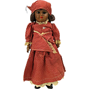"Black AM 1894 bisque head doll in all original ""Mammy"" clothes 13"""