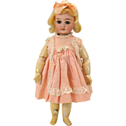 "S & H 1079 bisque head cabinet doll 11"" with pierced ears"