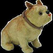 French fashion doll glass eyed DOG figure-Old English bulldog