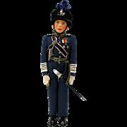 Vintage Farnell King George VI felt doll in RAF uniform with original tag