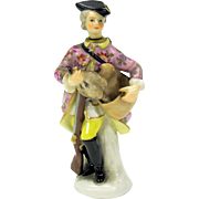 Early 19th Century figural porcelain perfume bottle