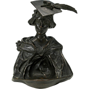 1899 signed Art Nouveau bronze of a Lady college graduate