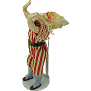 Unusual 19th Century all original Clown acrobat doll