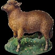Early Raphael Tuck chromolitho rocking card of a sheep