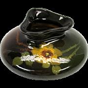 Owens or Weller artist initialed art pottery vase