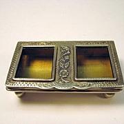 Vintage sterling silver fancy stamp holder English