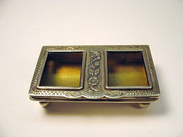Vintage sterling silver fancy stamp holder English