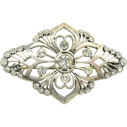 Art Deco French paste brooch pin
