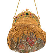 Fine jeweled frame Ladies purse pocket book with bead work