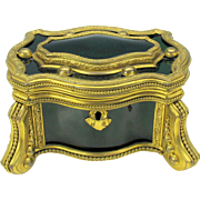 Grand Tour enamel and gilt bronze Palais Royal dresser casket box