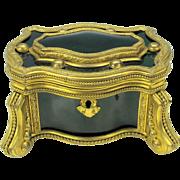 Grand Tour enamel and gilt bronze Palais Royal dresser casket box
