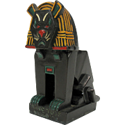 Louis Wain Cubist cat metal figure King Tut's Meow 1920's