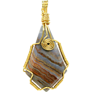 """Stories in stone"" pendant by Glenn Freeman-Painted Desert"