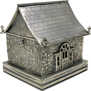 Victorian figural silver plate house shaped box Hartford silver plate Co. CT