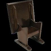 Vintage Dollhouse miniature wood bench table in plain but original box