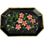 Vintage painted tin tole tray dollhouse miniature by Ann Englert